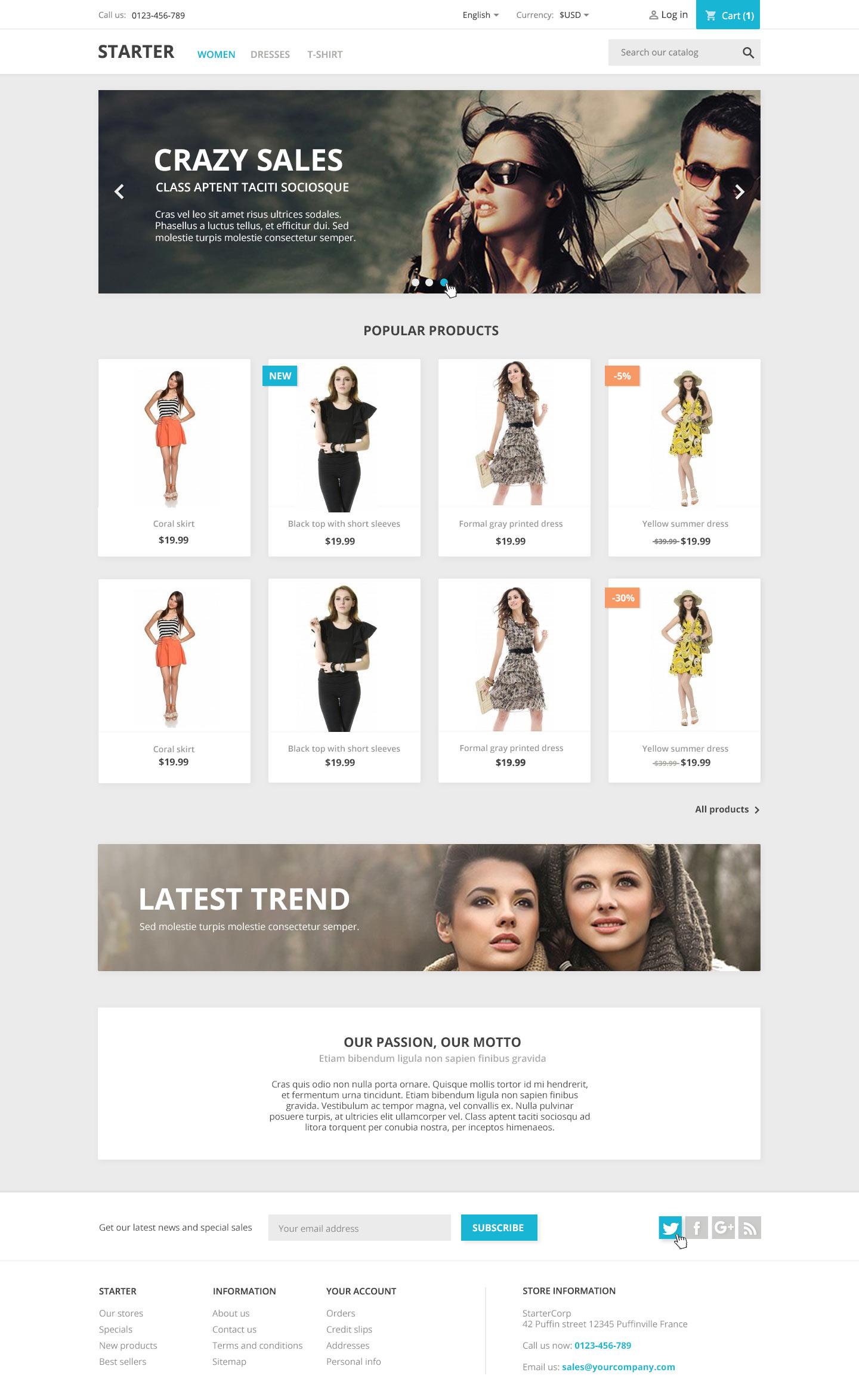 Un CMS comme Prestashop intègre tout le nécessaire pour lancer facilement une boutique en ligne