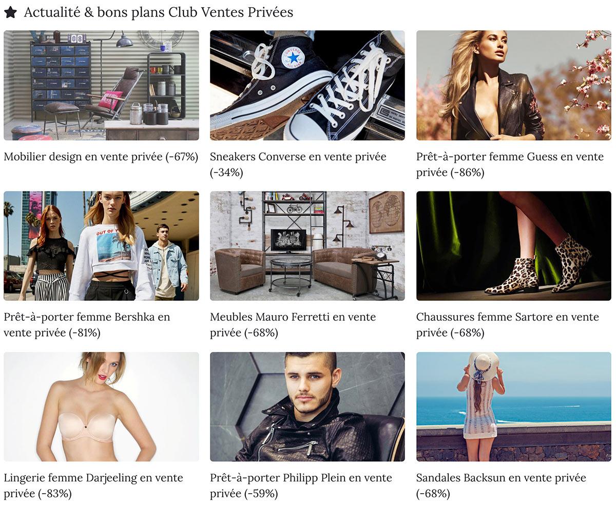 De nombreux sites relaient les ventes privées les plus intéressantes au quotidien. Un excellent support de visibilité pour une jeune boutique !