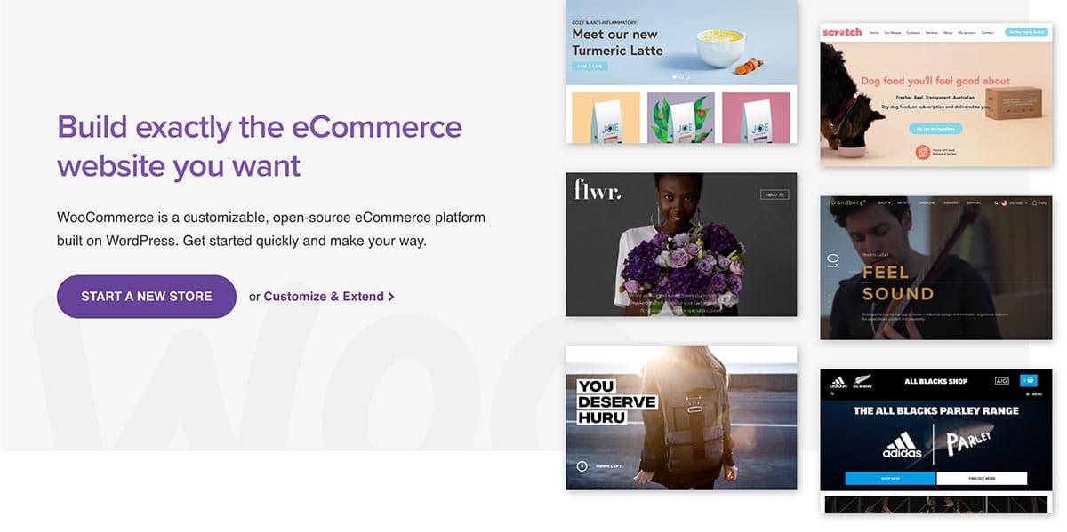 La force de WooCommerce est sa compatibilité avec l'ensemble des thèmes et plugins pour WordPress. Cela permet de créer une expérience ecommerce à votre image.